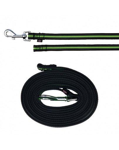 """Smycz """"Fusion tracking lead"""" 3 m / 17 mm czarno - zielony"""