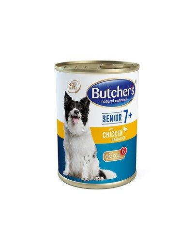 Blue+ Senior kurczak/szynka/ryż pasztet 390 g
