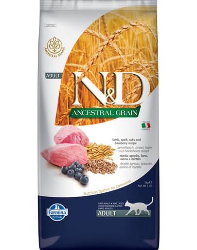 N&D Ancestral Grain Lamb & Blueberry Adult Cat 5 kg
