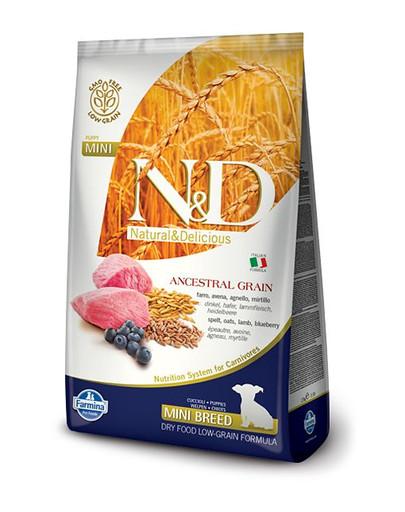 N&D Low Grain Dog Lamb & Blueberry Puppy Mini 7 kg