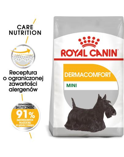 Mini Dermacomfort karma sucha dla psów dorosłych, ras małych, o wrażliwej skórze, skłonnej do podrażnień 3 kg