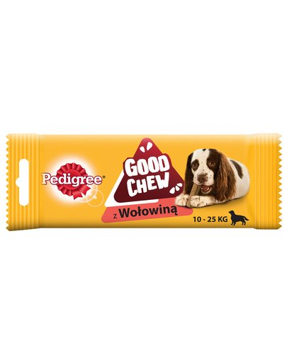 GoodChew (średnie rasy) - przysmak do gryzienia dla psów z wołowiną 88 g x 14 szt.