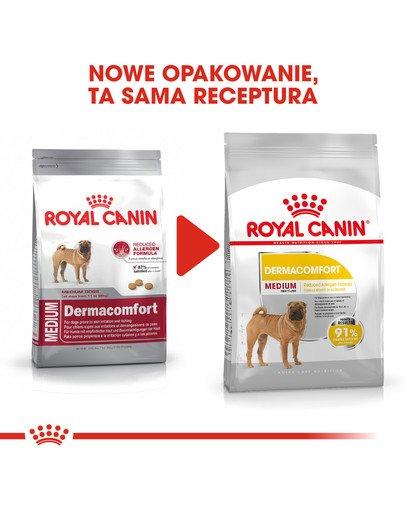 Medium Dermacomfort 3 kg karma sucha dla psów dorosłych, ras średnich o wrażliwej skórze
