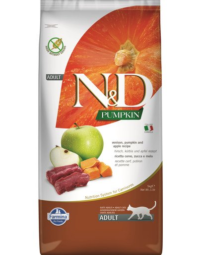 N&D Pumpkin Cat vension & apple 5 kg