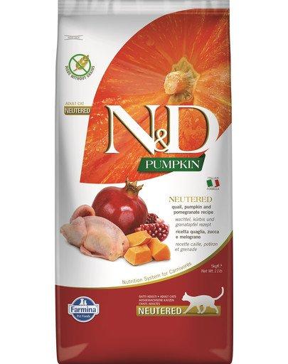 N&D Pumpkin Cat neutered quail & pomegranate 5 kg