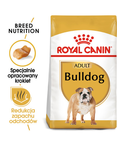 Bulldog Adult karma sucha dla psów dorosłych rasy bulldog 3 kg