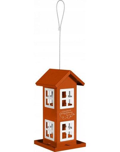 Karmnik domek z 8 oknami pomarańczowy
