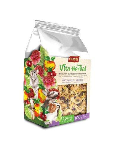 VITAPOL Vita Herbal pokarm uzupełniający dla gryzoni i królika spiżarka owocowo-warzywna 100 g