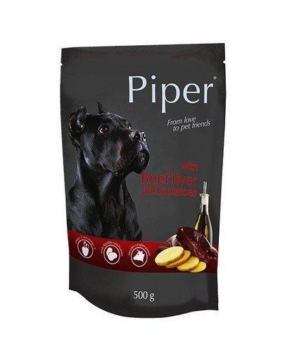 PIPER z wątrobą wołową i ziemniakami 500 g mokra karma dla dorosłych psów