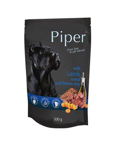 PIPER z jagnięciną, marchewką i brązowym ryżem 500 g mokra karma dla dorosłych psów