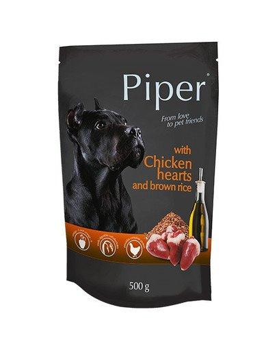 PIPER z sercami kurczaka i ryżem 500 g mokra karma dla dorosłych psów