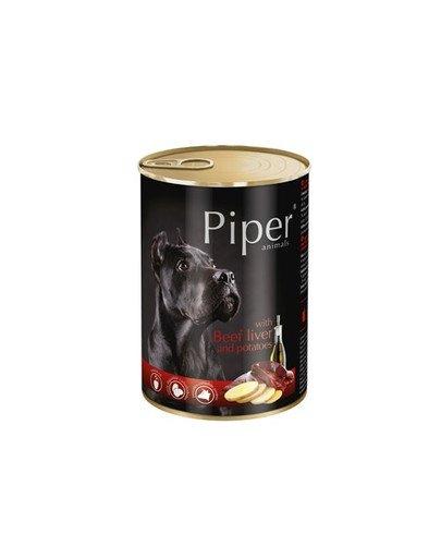 PIPER z wątrobą wołową i ziemniakami 400 g mokra karma dla dorosłych psów