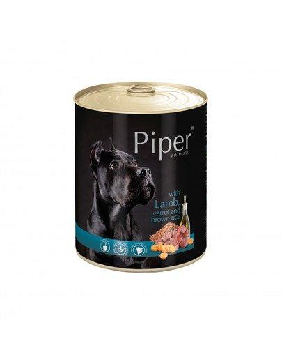 PIPER z jagnięciną, marchewką i brązowym ryżem 800 g mokra karma dla dorosłych psów