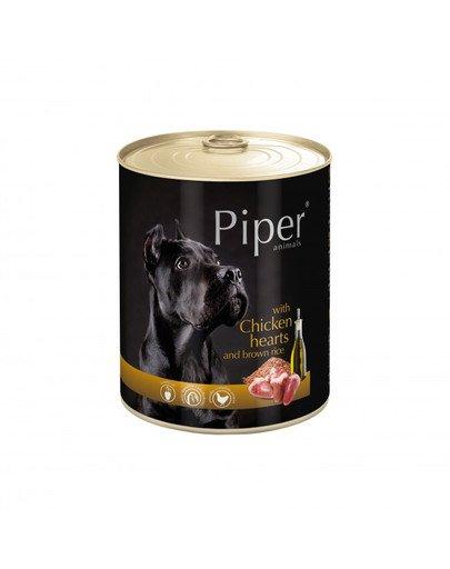 PIPER z sercami kurczaka i ryżem 800 g mokra karma dla dorosłych psów