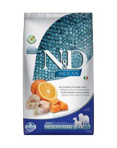 N&D Ocean dog codfish, pumpkin, orange Adult medium & maxi 2,5 kg