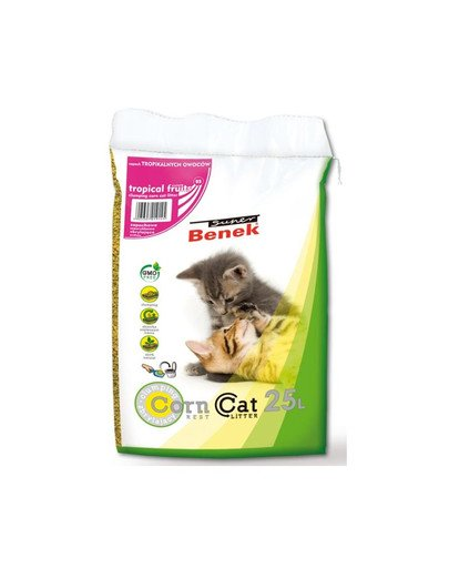 Super Benek Corn Cat żwirek kukurydziany Tropikalne Owoce 25 l