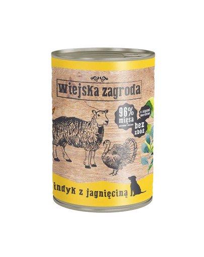 Indyk z jagnięciną 400 g bezzbożowa karma dla psa