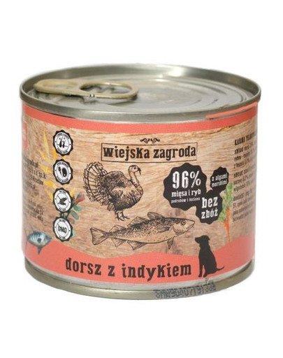 Dorsz z indykiem 200 g bezzbożowa karma dla psa