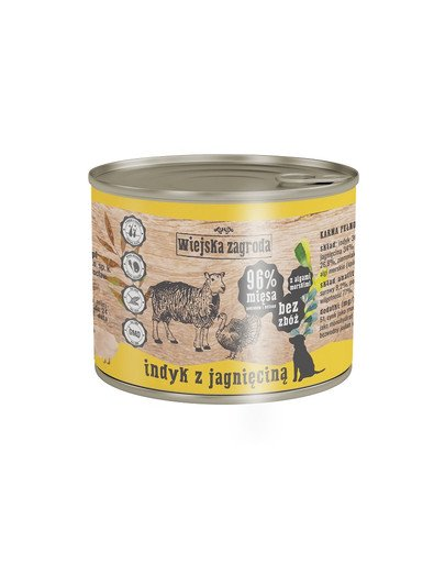 Indyk z jagnięciną 200 g bezzbożowa karma dla psa