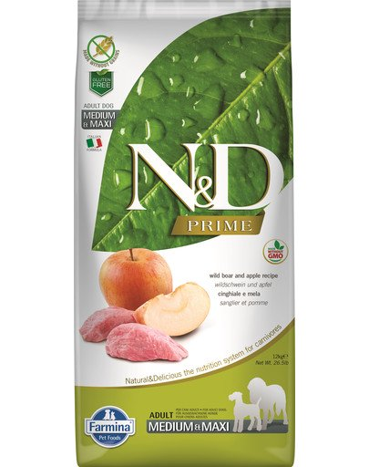 N&D Boar & Apple Adult Medium & Maxi 2,5 kg