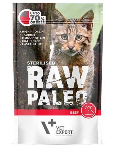 RAW PALEO Sterilised beef 100 g mokra karma dla kastrowanych kotów wołowina