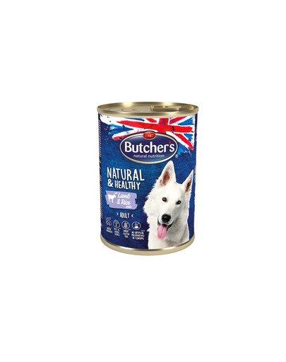 Natural&Healthy Dog z jagnięciną i ryżem pasztet 390 g