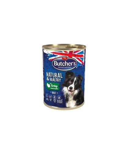 Natural&Healthy Dog z indykiem kawałki w galarecie 400 g