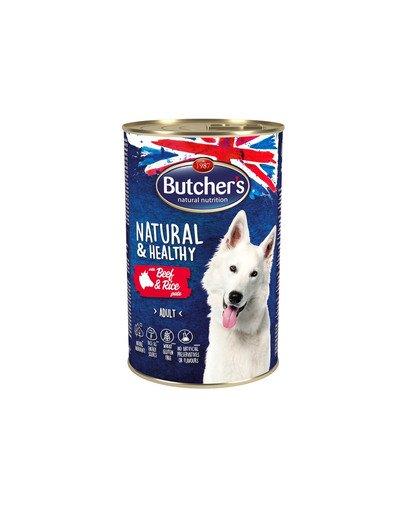 Natural&Healthy Dog z wołowiną i ryżem pasztet 1200 g