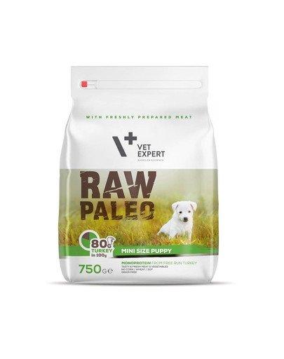 RAW PALEO Puppy Mini turkey 750 g dla szczeniąt ras małych indyk