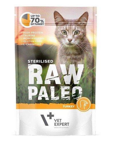 RAW PALEO Sterilised turkey 100 g mokra karma dla kastrowanych kotów indyk