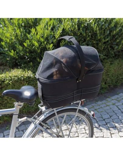 Kosz na rower na szerokie bagażnki 29×49×60 cm czarny