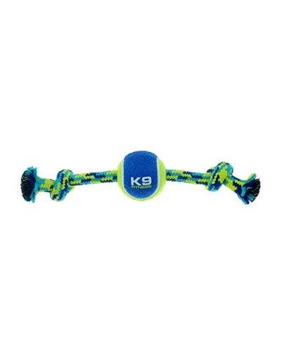 Sznur z piłką Zeus Fitness K9, L, 25 cm