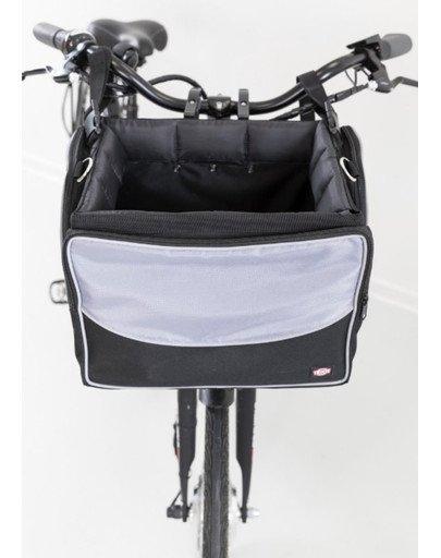Transporter rowerowy przedni, czarny/szary, 41 × 26 × 26 cm