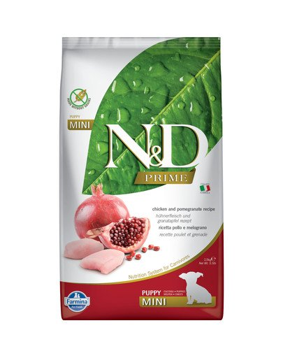 N&D Prime dog chicken and pomegranate Puppy mini 2,5 kg